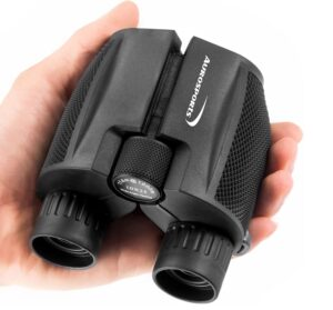 Aurosports 10x25 Folding High Powered Compact Binoculars for Adults Kids With Weak Light Night Vision Clear Binocular