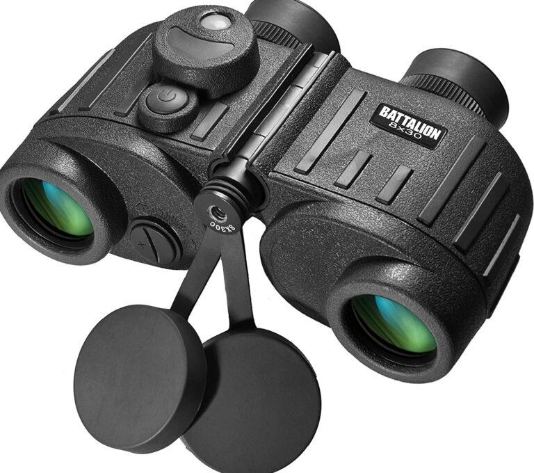 BARSKA Battalion Waterproof Military Binoculars with Rangefinder_