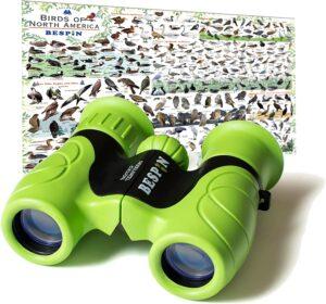 BESPIN Binoculars for Kids 8x21 Bird Watching, High-Resolution Real Optics for Wildlife Watching with Reversible Bird Map